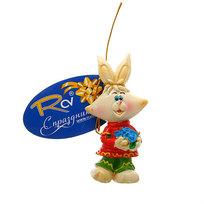 Магнит из полистоуна ″Кролик с букетом″ купить оптом и в розницу