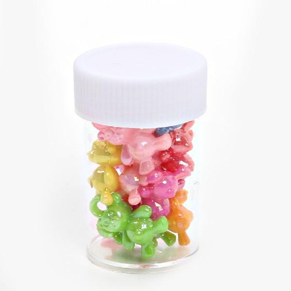 Бусины цветные Мишки 144шт по 12шт в тубе d-15мм 364-2 купить оптом и в розницу
