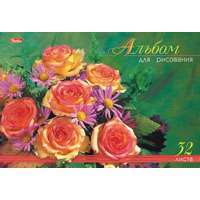 """Альбом д/рис.А4 32л, спир.HATBER, """"Роскошные цветы"""" купить оптом и в розницу"""