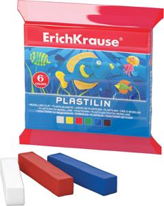 Пластилин  6 цв.90г Erich Krause в запечатке купить оптом и в розницу
