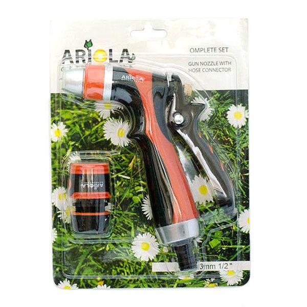 Набор для полива (Пистолет-наконечник для полива Premium 2 позиции+коннектор 1/2″ ) ARIOLA Чехия купить оптом и в розницу
