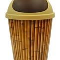 Мусорка круглая 5,5 л Бамбук*18 купить оптом и в розницу