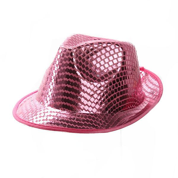 Шляпа карнавальная ″Модная шляпа″ нежно-розовый цв. 020-1 купить оптом и в розницу