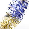 Мишура новогодняя 2 метра 9см ″Зебра″ синий, золотой купить оптом и в розницу