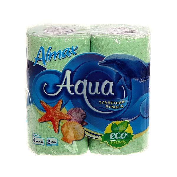 Бумага туалетная 2сл 4рул. ″ALMAX ECO″ Aqua ассорти купить оптом и в розницу