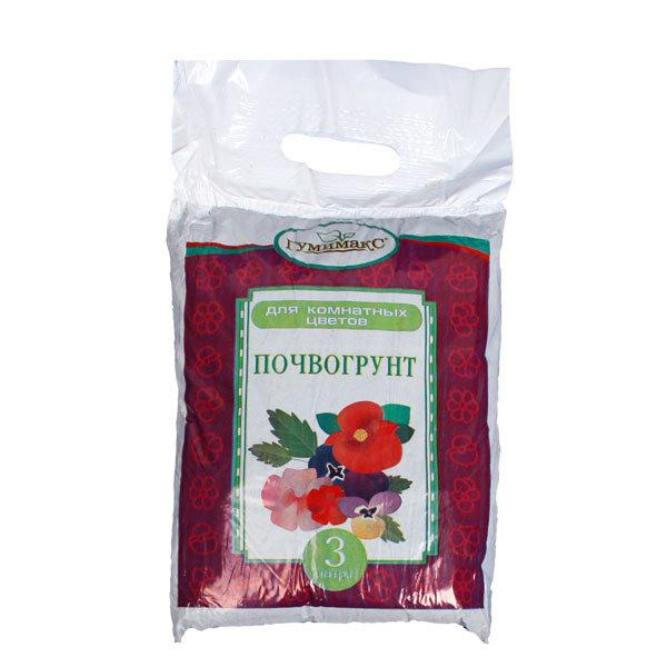 Почвогрунт для комнатных цветов 3 л Гумимакс купить оптом и в розницу