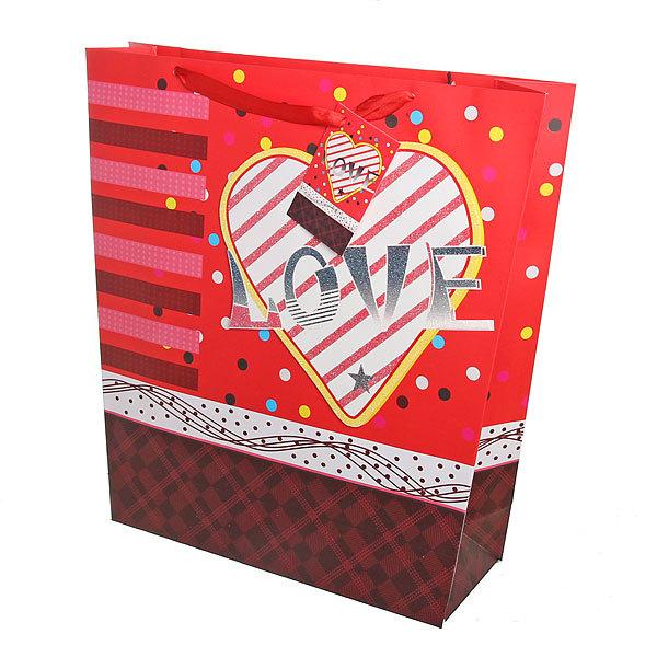 Пакет подарочный ″Сердца″ 33*34*10 9003 купить оптом и в розницу