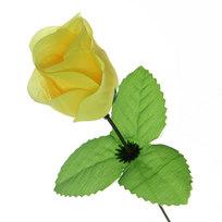 Цветок искусственный 32см декоративный Роза желтая купить оптом и в розницу