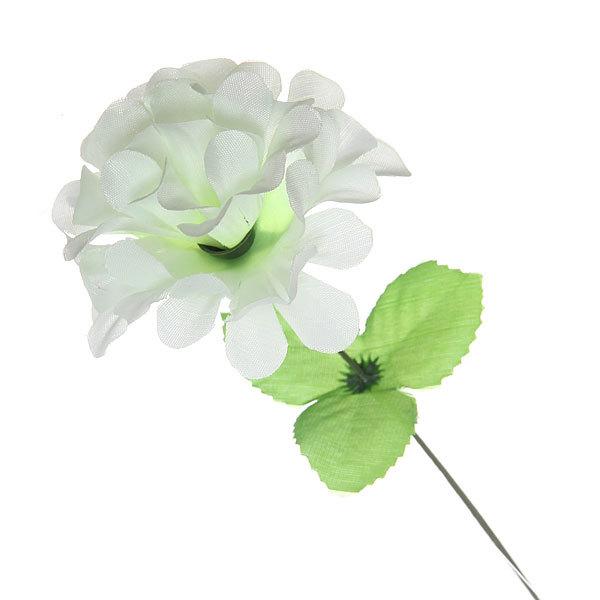 Цветок искусственный 32см декоративный Хризантема белая купить оптом и в розницу