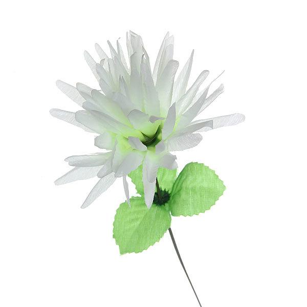 Цветок искусственный 33см декоративный Хризантема белая купить оптом и в розницу