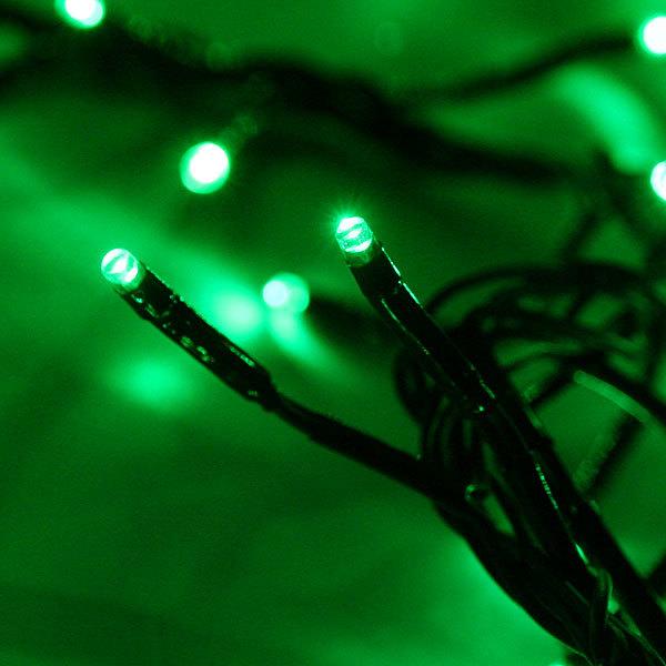 Гирлянда твинклайт 2м, 200 ламп микроLED, ″Фейерверк″, зеленый с удлинит. купить оптом и в розницу