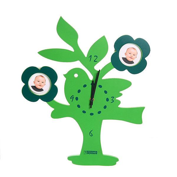 Часы ДВП (зел. дерево+фото) Т9208 купить оптом и в розницу