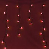 Бахрома светодиодная 3 х 0,3/0,4/0,5м, 96 ламп LED, Красный, 8 реж купить оптом и в розницу