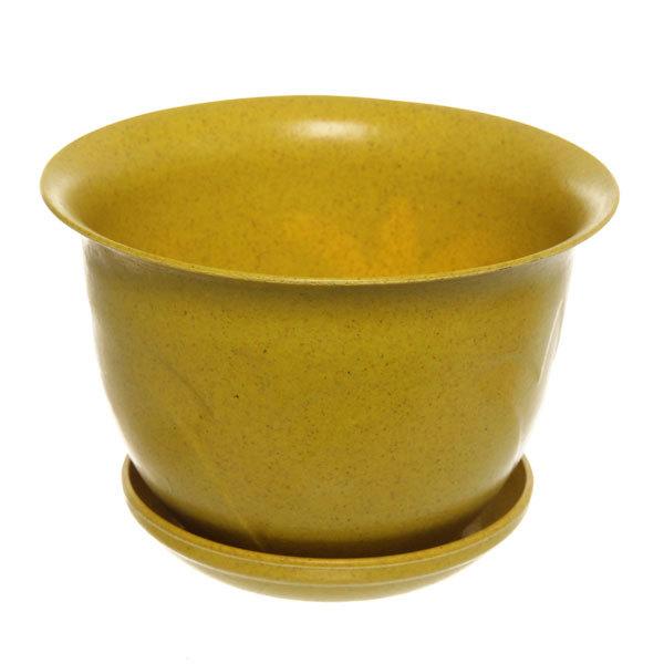 Горшок для цветов ЭКО Тюльпаны″ 18*23см 4А желтый 6,5 купить оптом и в розницу