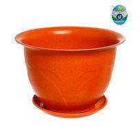 Горшок для цветов ЭКО Тюльпаны″ 23*16см 4В оранжевый 5,8 купить оптом и в розницу