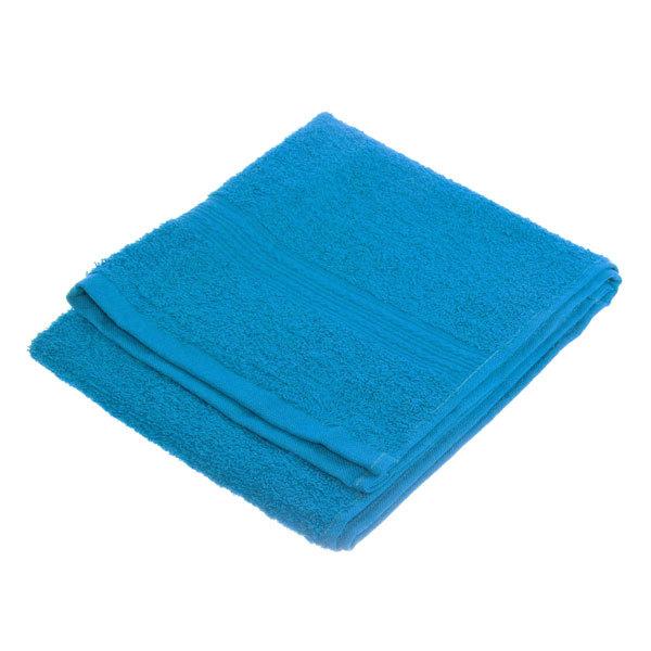 Махровое полотенце 40*70см голубое ЭК70 Д01 купить оптом и в розницу
