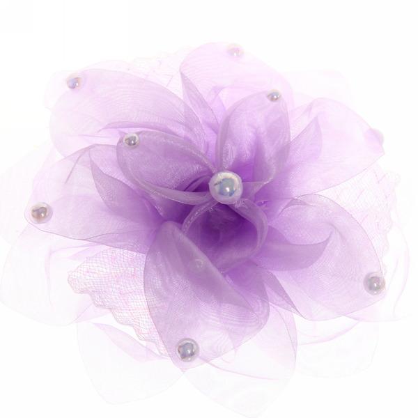 Бант для волос ″Тифани - лилия″, цвет микс, с жемчужинками d-15см купить оптом и в розницу