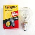 Лампа накаливания Navigator NI-С-60Вт-E14-230В-СL прозрачн.сфера (10/100) купить оптом и в розницу