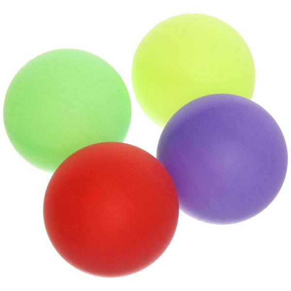 Шарики для настольного тенниса Color, 40 мм, цветные, 4 шт в пакете