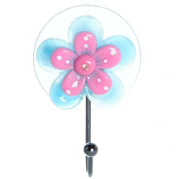 Крючок на присоске Цветочек XH004 купить оптом и в розницу
