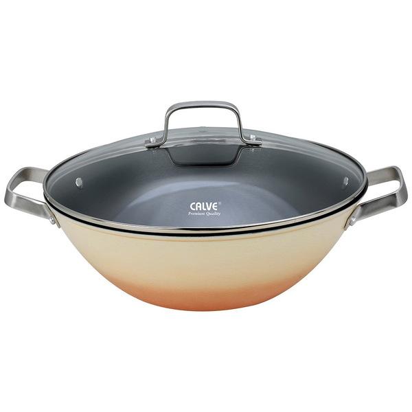 Сковорода-вок чугунная 32см с крышкой купить оптом и в розницу