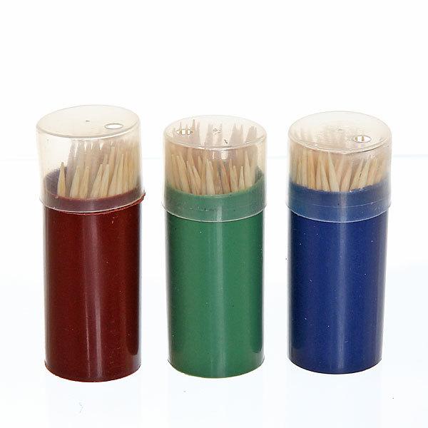 Зубочистки 80шт ″Классические″ в пластиковой банке купить оптом и в розницу