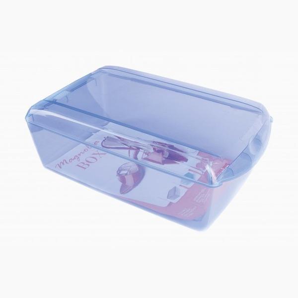 Ящик для хранения обуви синий 360 x 210 x 128 купить оптом и в розницу