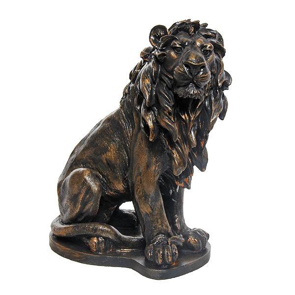 Статуэтка из гипса ″Лев (античное золото), 32см. купить оптом и в розницу