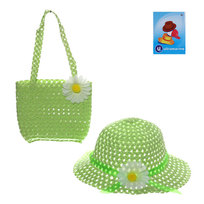 Шляпа в наборе с пляжной сумочкой ″Солнечное лето″ зеленый цвет 809-6 купить оптом и в розницу