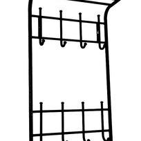 Вешалка 2х ярусная 40 см черная (Арт.ВСП166Ч) купить оптом и в розницу