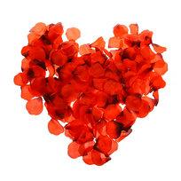 Лепестки роз алые 300 шт в упаковке 4,5*5 купить оптом и в розницу