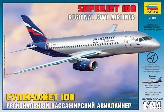 Сб.модель П7009 ПН Самолет Суперджет 100 купить оптом и в розницу