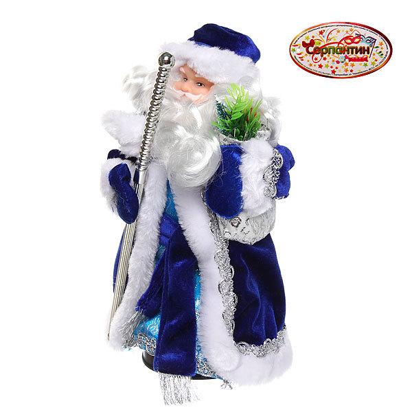 Дед Мороз музыкальный 25см с посохом купить оптом и в розницу
