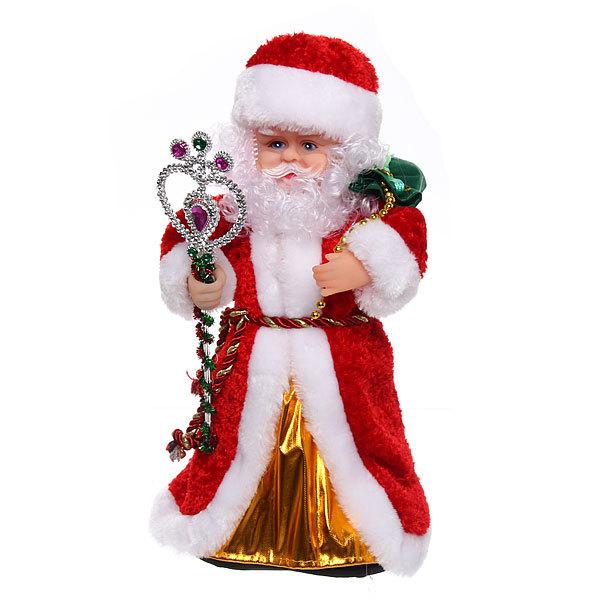 Дед Мороз музыкальный 30см с посохом купить оптом и в розницу
