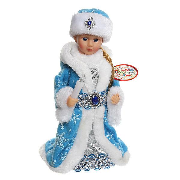 Снегурочка музыкальная 30см со свечкой ″Снежинка″ купить оптом и в розницу