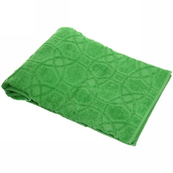 Махровое полотенце 50*100см средний зеленый жаккард ЖК100-2-008-012 купить оптом и в розницу