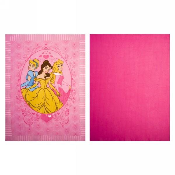 Плед 122*152см 2шт Принцессы флисовый для рукоделия 60610/12/4 купить оптом и в розницу