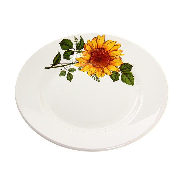 Тарелка керамическая 17,5 см мелкая Подсолнух 1/20 СК_057 Д купить оптом и в розницу