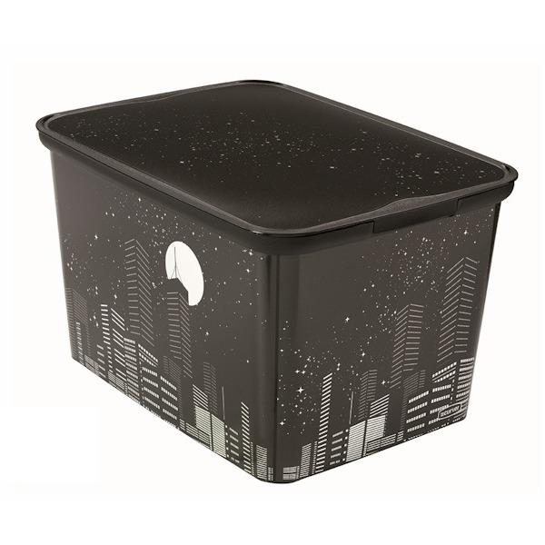 Коробка декоративная  L AMSTERDAM Skyline 5 шт (40х30х24)см Curver купить оптом и в розницу
