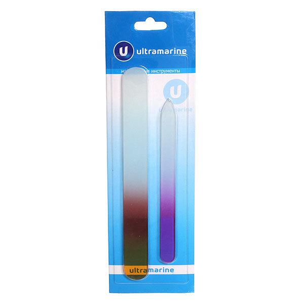 Пилка для ногтей стеклянная на блистере ″Ультрамарин″, в наборе 2шт, ручка цветная, микс купить оптом и в розницу