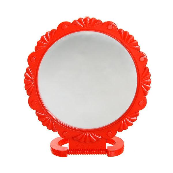 Зеркало настольное в пластиковой оправе ″Резная окантовка″ круг, подвесное d=12,5см купить оптом и в розницу