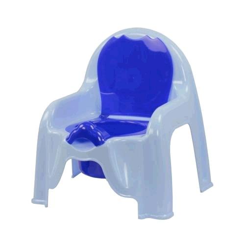Горшок-стульчик (голубой)(уп.6)  (Октябрьский) купить оптом и в розницу