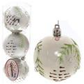 Новогодние шары ″Новогодняя шишечка на серебре″ 7см (набор 3шт.) купить оптом и в розницу