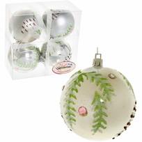 Новогодние шары ″Лесная шишечка″ 8см (набор 4шт.) купить оптом и в розницу