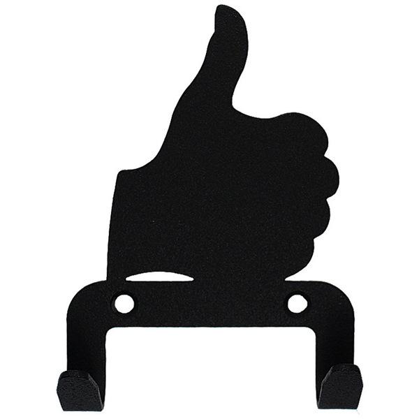 Крючок универсальный, серия ″Жесты″, модель ″Все отлично - 2″, цвет черный купить оптом и в розницу