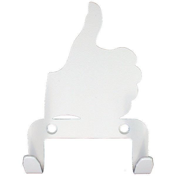 Крючок универсальный, серия ″Жесты″, модель ″Все отлично - 2″, цвет белый купить оптом и в розницу