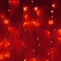 Занавес светодиодный уличный ш 2 * в 1,5м, 276 лампы LED, ″Дождь″, Красный, 8 реж, черн.пров купить оптом и в розницу