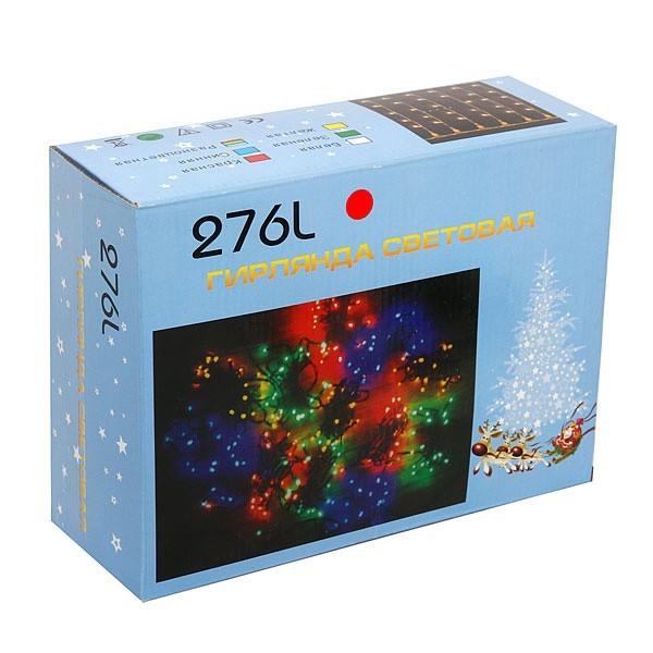 Занавес светодиодный ш 2 * в 1,5м, 276 лампы LED, ″Дождь″, Красный, 8 реж, черн.пров купить оптом и в розницу