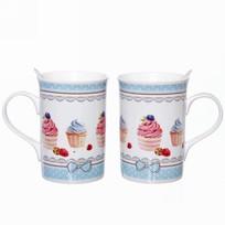 Чайный набор 4 предмета ″Сластена - 6″ (2кружки 300мл+2ложки) купить оптом и в розницу
