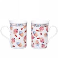 Чайный набор 4 предмета ″Сластена″ (2кружки 300мл+2ложки) 1 купить оптом и в розницу